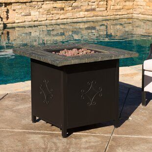 Red Barrel Studio Mcandrew Cast Iron Propane Fire Pit Table