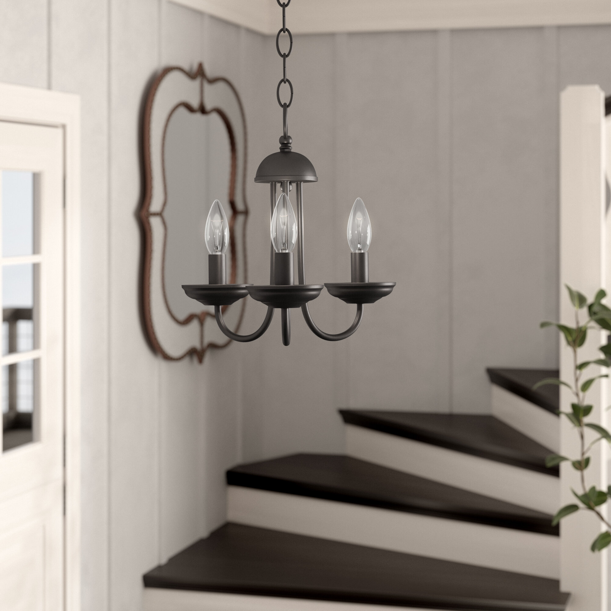 Charlton Home Bordelon 3 Light Candle Style Classic Traditional Chandelier With Rope Accents Reviews Wayfair