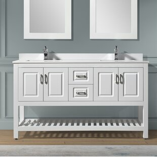 Needville 59 Double Bathroom Vanity Set by Charlton Home