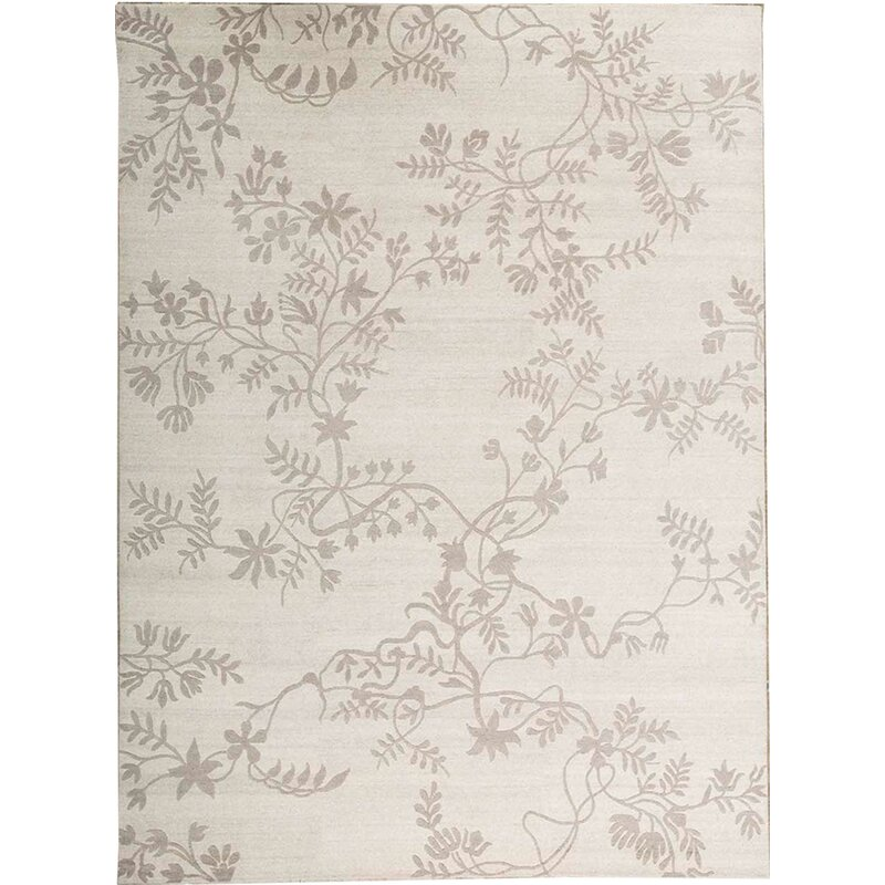 Bokara Rug Co Inc Himalayan Floral Hand Knotted Gray Area Rug Wayfair
