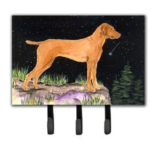 Starry Night Vizsla Leash Holder and Key Hook by Caroline's Treasures