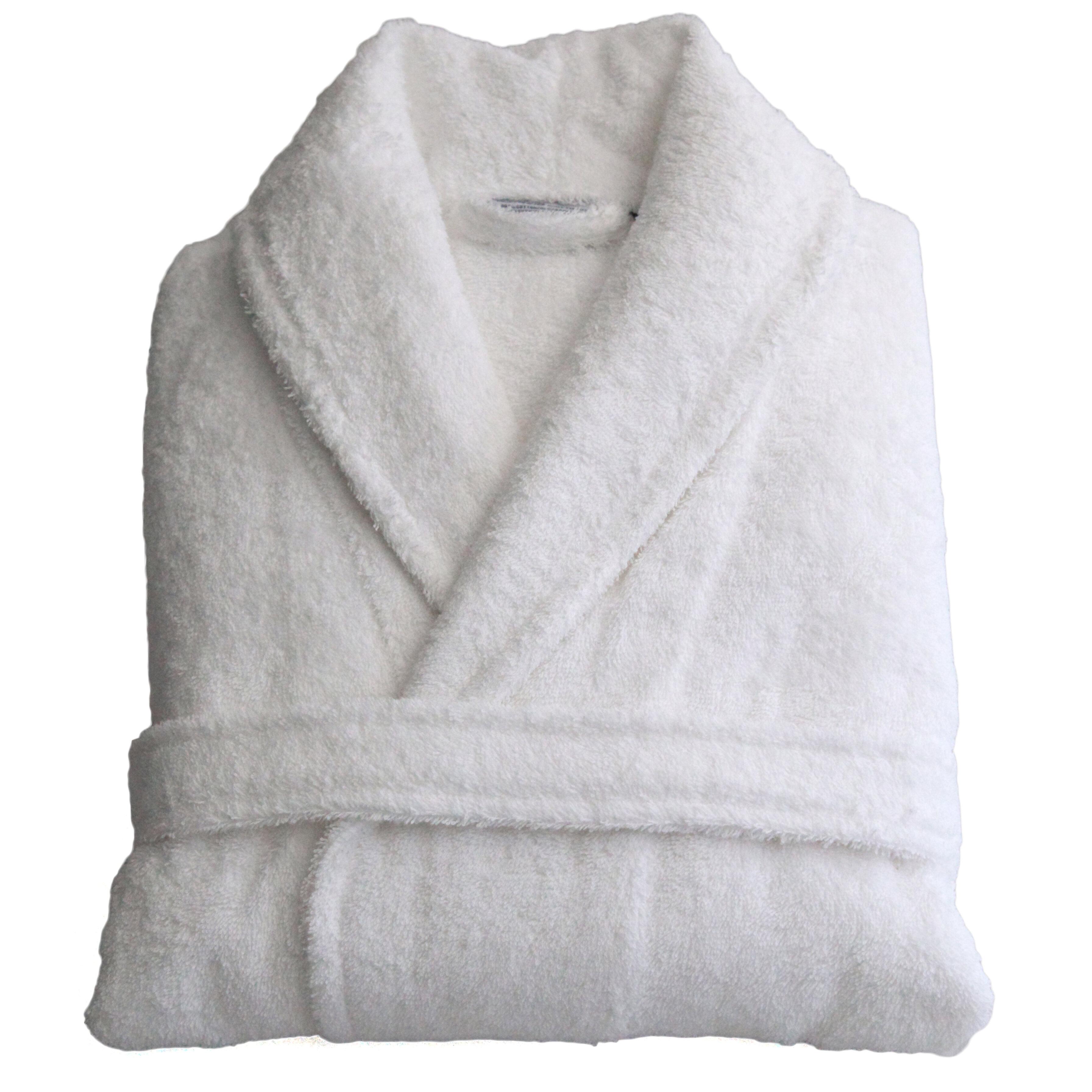 Women/'s short beige plush fleece bath robe with shawl collar Cotton white robe High quality handmade robe Home suit Handknit sweater
