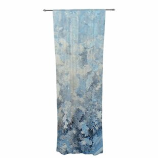 Frosted Marble Abstract Sheer Rod Pocket Curtain Panels (Set of 2) by East Urban Home