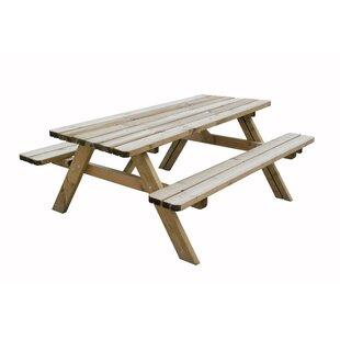 Aberdeen Wooden Picnic Bench Image