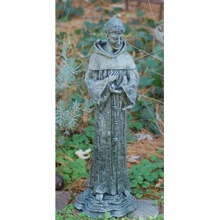 Ladybug Garden Decor St. Francis Statue