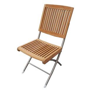 Rosecliff Heights Jade Folding Teak Chair