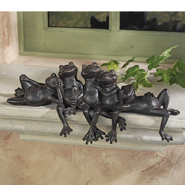 Design Toscano Lazy Daze Knot Of Frogs Sill Sitters Statue Reviews Wayfair