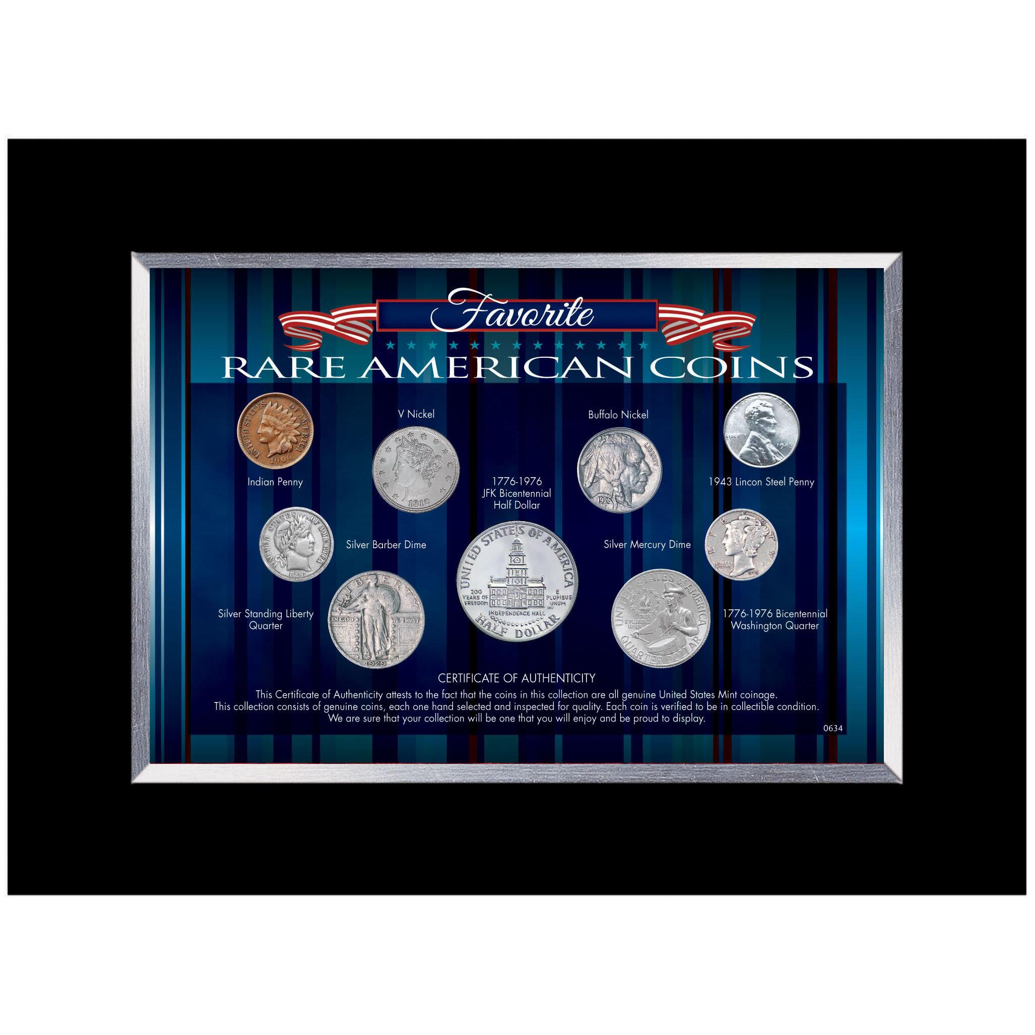 American Coin Treasure Favorite Rare American Coins Desk Framed Memorabilia Wayfair