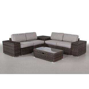 Nolen 8 Piece Sectional Set With Cushions by Latitude Run 2019 Coupon