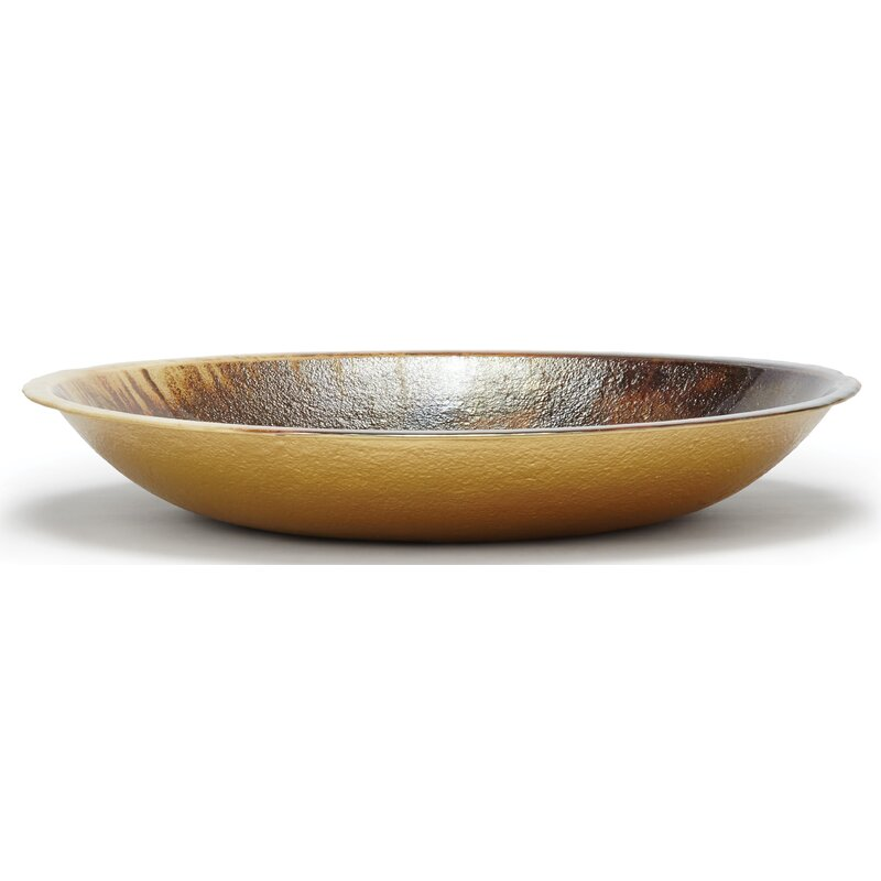 Vietri Earth Glass Glass Contemporary Decorative Bowl In Metallic Brown Reviews Wayfair
