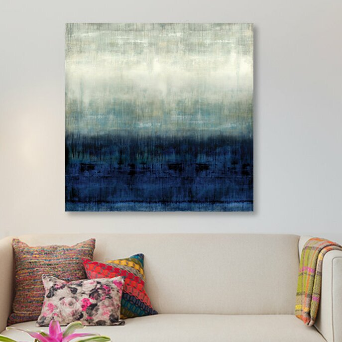 East Urban Home After Glow I Painting Print On Wrapped Canvas Wayfair
