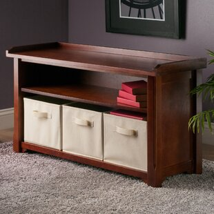 Charlton Home Drakeford Storage Bench wit..
