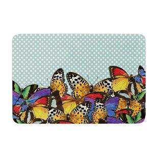 Butterfly by Suzanne Carter Bath Mat By East Urban Home