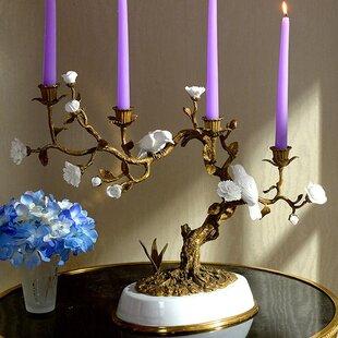 Centerpiece Branch Porcelain Candlestick