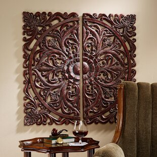 2 Piece Carved Rosette Architectural Wall D?cor Set by Design Toscano