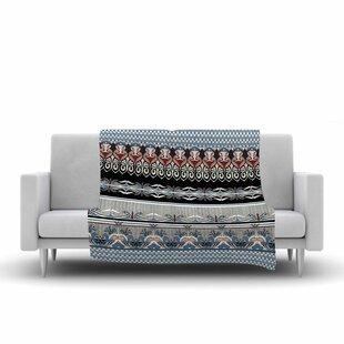 Compare prices Victoria Krupp Nouveau Deco Fleece Blanket ByEast Urban Home