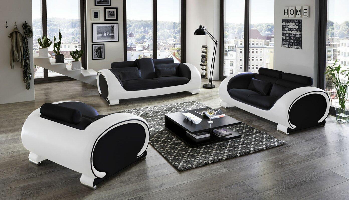sam stil art m bel gmbh 3 tlg couchgarnitur vigo bewertungen. Black Bedroom Furniture Sets. Home Design Ideas
