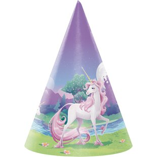 Unicorn Fantasy Hat Paper Disposable Party Favor (Set of 24)