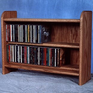 Deluxe 110 CD Multimedia Tabletop Storage Rack by Wood Shed Amazing