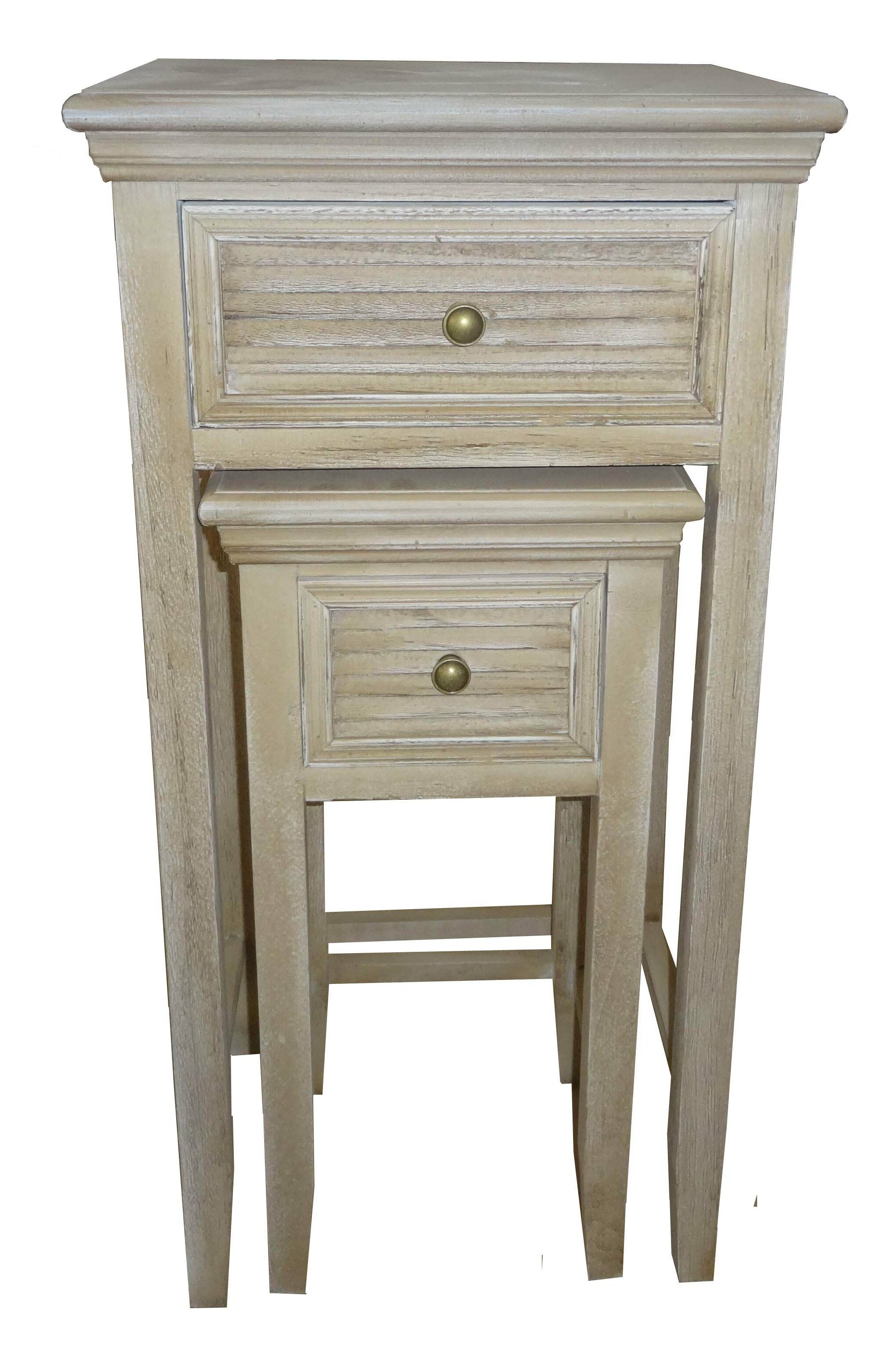 Gracie Oaks Berrian 2 Piece Wood Louvered 2 Drawer Nightstand Set