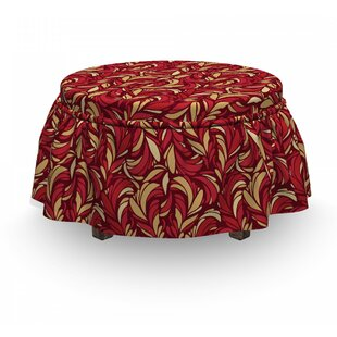 Leaves ColoFoliage 2 Piece Box Cushion Ottoman Slipcover Set By East Urban Home