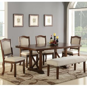 Chevaliers Modern 6 Piece Dining Set by Canora Grey