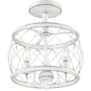 Meryl 3-Light Semi Flush Mount by August Grove