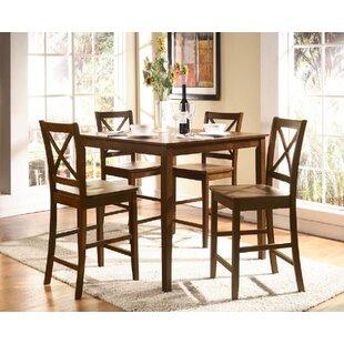 Altoona 5 Piece Pub Table Set Canora Grey