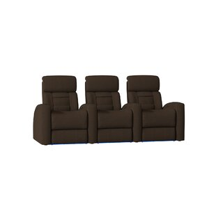 Latitude Run Diamond Stitch Home Theater Row Seating (Row of 3)