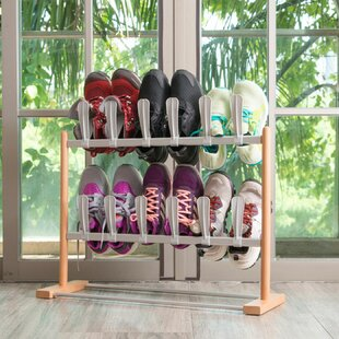 Affordable Modern Pop On 12 Pair Shoe Rack By Rebrilliant