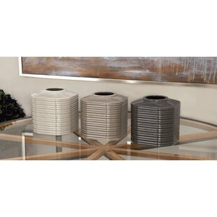 Dilworth Ribbed 3 Piece Table Vase Set