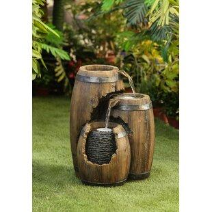 Resin Broken Barrel Fountain