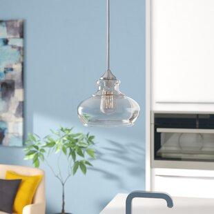 Mercury Row Carmon Ovale 1-Light Bell Pendant