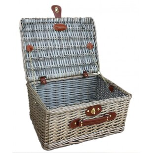 Split Willow Picnic Basket By Beachcrest Home