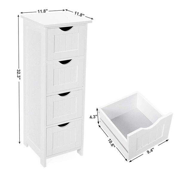 Rosecliff Heights Michela 11 8 W X 32 3 H X 11 8 D Linen Cabinet Wayfair