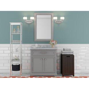 Bergin 24 W  Single Sink Bathroom Vanity Set with Faucet - Grey ByThree Posts