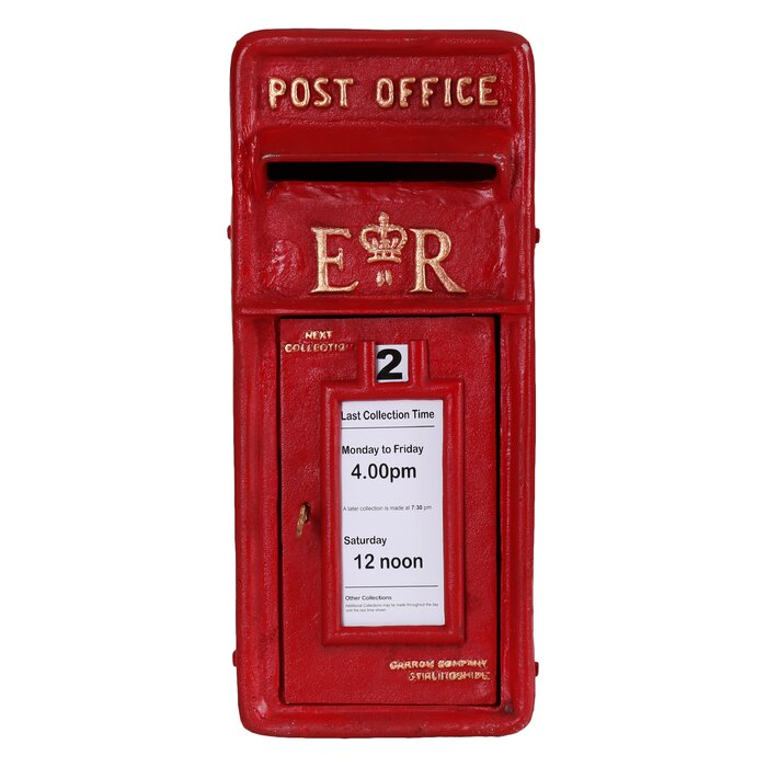 Royal Mail Letter Box.Emmett Royal Mail Post Box Wall Mount Sculpture