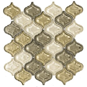 Lantern Glass Mosaic Tile in Champagne