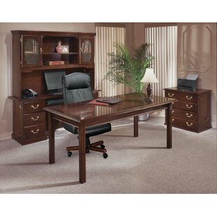 Governor's 4-Piece Standard Desk Office Suite by Flexsteel Contract Cool