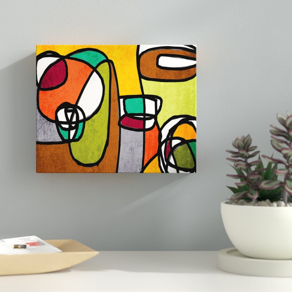 Latitude Run Vibrant Colorful Abstract 8 Painting Print On Wrapped Canvas Wayfair