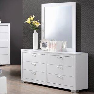 Belding 6 Drawer Standard Dresser/Chest with Mirror