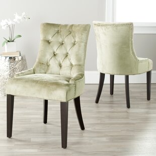 Buy clear Reynesford Velvet Upholstered Dining Chair (Set of 2) by Charlton Home Reviews (2019) & Buyer's Guide
