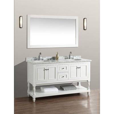 bathroom mirrors kelowna kbc beverly 60 double bathroom vanity set reviews wayfair - Bathroom Cabinets Kelowna