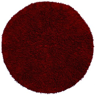 Baugh Shag Burgundy Area Rug by Ebern Designs