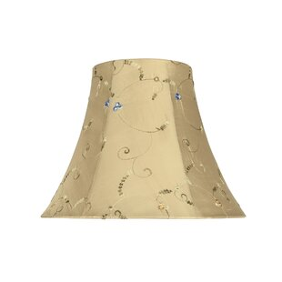 14 Fabric Bell Lamp Shade with Floral Embroidered