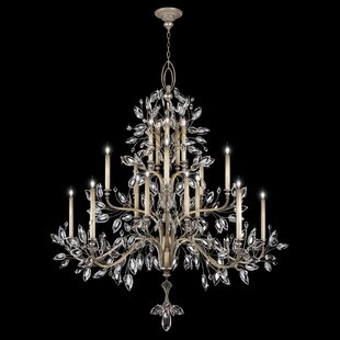Crystal Laurel 20-Light Chandelier by Fine Art Lamps