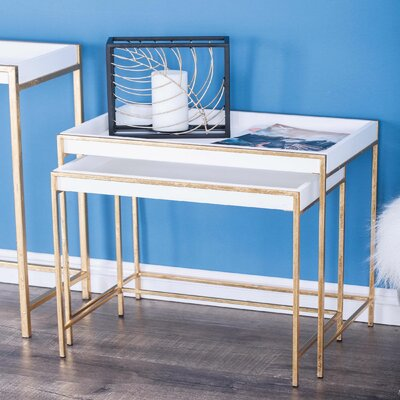 "2 Piece Console Table Set Size: 23"" H x 20"" W x 14"" D"