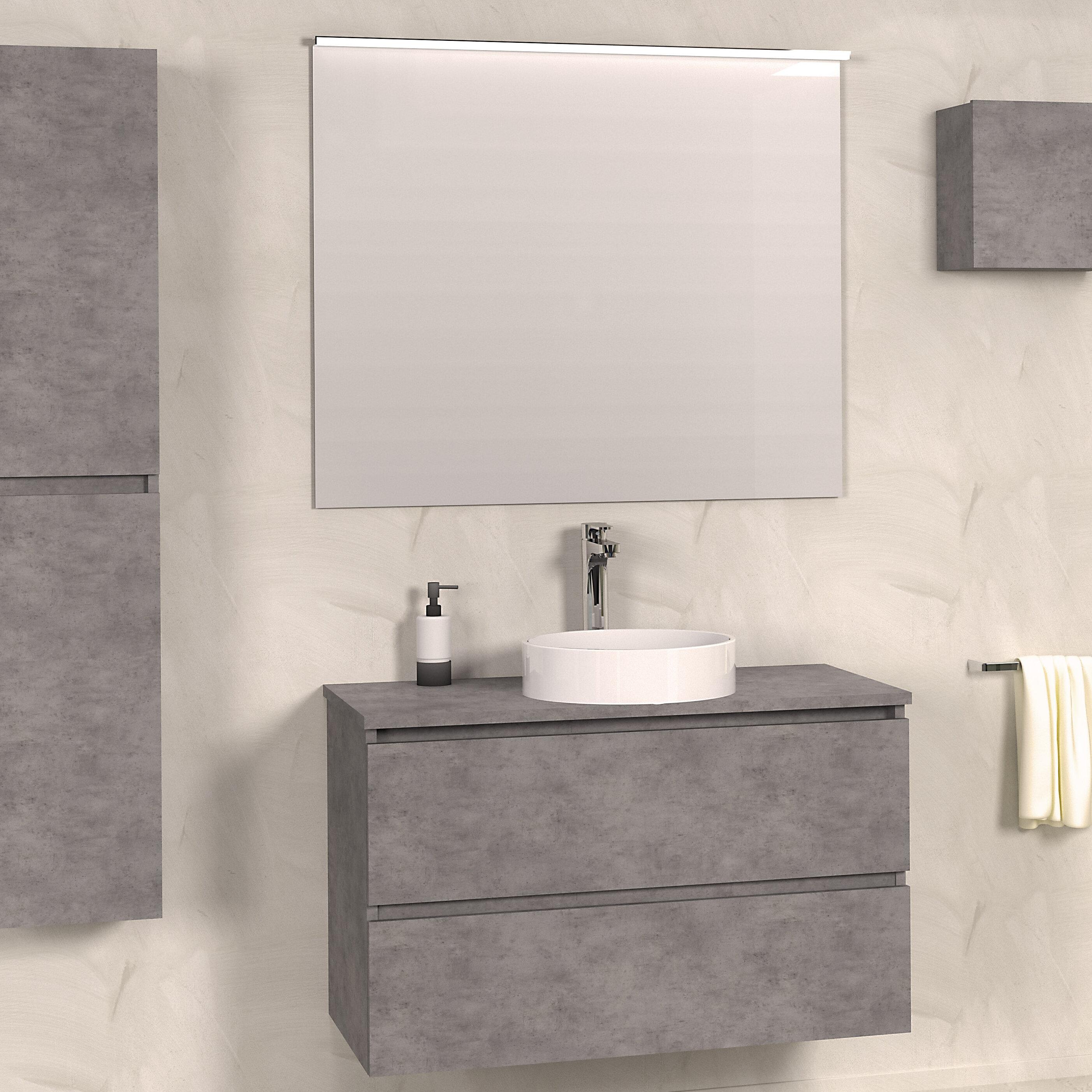 Bathroom 9mm Wall Hung Single Vanity Unit
