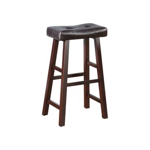 Charlton Home Rowe Wooden Bar Stool (Set ..