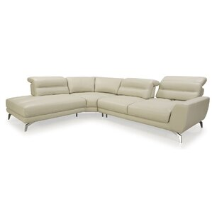 Arnisha Leather Reclining Sectional by Orren Ellis